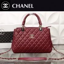 CHANEL 8293-2 專櫃限量版女士紅色進口羊皮手提單肩包