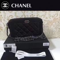 CHANEL-006-3 最新款雙拉鏈內置八個卡位時尚潮流小包