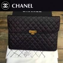 CHANEL-98180 黑色魚子醬牛皮手包