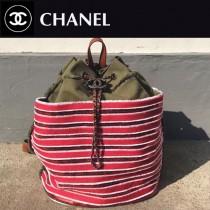 CHANEL-005-3 新款手工穿珠片時尚潮流水桶型雙肩包
