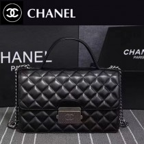 CHANEL 6805-2 優雅女士新款黑色進口羊皮手提單肩包