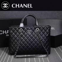 CHANEL 6810 專櫃同步黑色進口球紋胎牛皮手提單肩包子母包