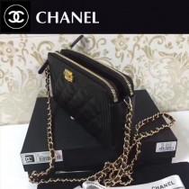 CHANEL-006 最新款雙拉鏈內置八個卡位時尚潮流小包