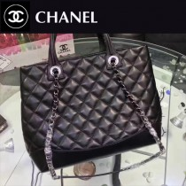 CHANEL-98560 新款時尚潮流簡單原版牛皮手提肩背包