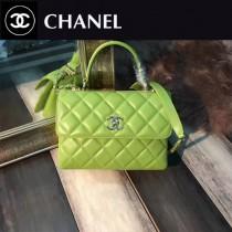 CHANEL-92236-5 最新色橄欖綠進口小羊皮內裡三個隔層三用包手提肩背斜挎包
