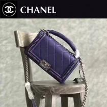 CHANEL-022-4 leboy羅馬手工坊系列菱格紋鏈條單肩斜挎包