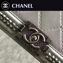 CHANEL-022-3 leboy羅馬手工坊系列菱格紋鏈條單肩斜挎包