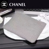 CHANEL 0565 時尚休閒女士灰色帆布拉鏈手拿包