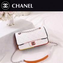 CHANEL A108-3 專櫃限量版古巴系列拼色小羊皮單肩斜挎包