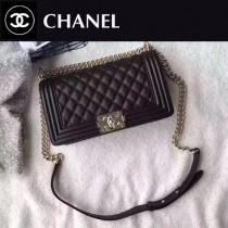 CHANEL-040 最新巴黎代購款頂級原單品質頂級小牛皮細球紋顆粒淺金電鍍五金單肩斜挎包