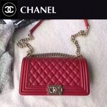 CHANEL-040-3 最新巴黎代購款頂級原單品質頂級小牛皮細球紋顆粒淺金電鍍五金單肩斜挎包