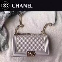 CHANEL-040-4 最新巴黎代購款頂級原單品質頂級小牛皮細球紋顆粒淺金電鍍五金單肩斜挎包