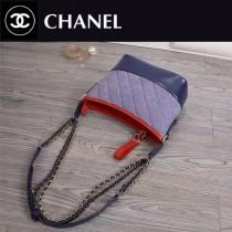 CHANEL 8801-2 春夏新品眾多明星追捧Gabrielle拼色牛皮單肩斜挎包