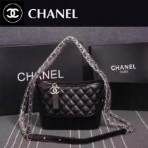 CHANEL 8108-3 大表姐劉雯宋茜同款Gabrielle黑色牛皮雙色五金小號手袋流浪包