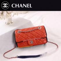 CHANEL A108-4 專櫃限量版古巴系列拼色小羊皮單肩斜挎包