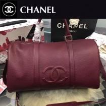 CHANEL-037-2 原版小牛皮紅色旅行袋