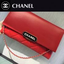 CHANEL-045-2 新款小羊皮翻蓋字母銘牌鏈條意大利原廠頂級小羊皮手提包手拿包