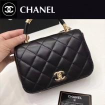 CHANEL-048-5 新款潮流帶手柄系列原版小羊皮手提斜背包