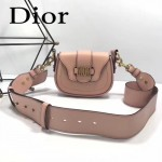 DIOR-003-4 早春最新款D Fence粉色原版皮大小號單肩斜挎包