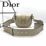 DIOR-003-5 早春最新款D Fence淺灰色原版皮大小號單肩斜挎包