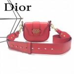 DIOR-003 早春最新款D Fence紅色原版皮大小號單肩斜挎包