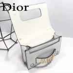 DIOR-001-2 王子文同款JADIOR系列古銅字母白色原版皮單肩斜挎包手拿包