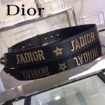 DIOR-005 個性百搭JADIOR黑色原版皮復古金屬配飾可斜跨包包肩帶
