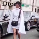DIOR-003-3 早春最新款D Fence黑色原版皮大小號單肩斜挎包