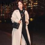 DIOR-0020-5 最新設計LADY四格黑色原版羊皮配三個徽章手提單肩包戴妃包