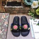 D&G鞋子-003-4 西西裏風情走秀款拉菲草配天然瑪瑙鑲嵌蜥蜴紋理平底拖鞋