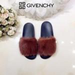 Givenchy鞋子-001-3 美國名媛卡戴珊同款意大利進口水貂毛平底拖鞋