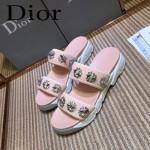Dior鞋子-002-3 迪奧新款純手工珠片刺繡運動款拖鞋