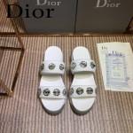 Dior鞋子-002-2 迪奧新款純手工珠片刺繡運動款拖鞋