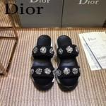 Dior鞋子-002 迪奧新款純手工珠片刺繡運動款拖鞋
