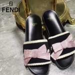 FENDI鞋子-002 芬迪甜美淑女風蝴蝶結裝飾平底拖鞋