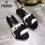 FENDI鞋子-002-3 芬迪甜美淑女風蝴蝶結裝飾平底拖鞋