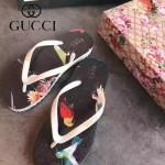 GUCCI鞋子-004-9 專櫃限量紀念版花鳥圖案情侶款人字拖沙灘鞋