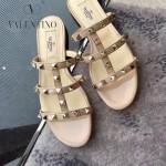 VALENTINO鞋子-001 網紅推薦款鉚釘設計原版胎牛皮平底拖鞋
