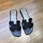 HERMES鞋子-007-2 愛馬仕經典款原版牛皮H型鞋面平底拖鞋一字拖