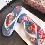 GUCCI鞋子-004-8 專櫃限量紀念版天竺葵紅花圖案情侶款人字拖沙灘鞋