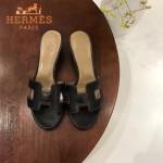 HERMES鞋子-008 愛馬仕經典款原版牛皮H型鞋面中跟拖鞋一字拖