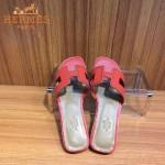HERMES鞋子-004 愛馬仕經典款進口牛皮H型穿孔透氣拖鞋一字拖