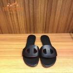HERMES鞋子-006-4 愛馬仕新款豬鼻子鞋面進口牛皮平底拖鞋