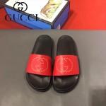 GUCCI鞋子-0006 獨家最新原版防滑耐磨大底牛皮五金打釘立體圖案最新款拖鞋