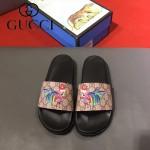 GUCCI鞋子-0005-9 獨家最新原版防滑耐磨大底最新款動物圖案拖鞋