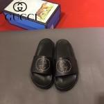 GUCCI鞋子-0006-2 獨家最新原版防滑耐磨大底牛皮五金打釘立體圖案最新款拖鞋