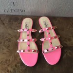 VALENTINO鞋子-001-5 網紅推薦款鉚釘設計原版胎牛皮平底拖鞋