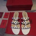 VALENTINO鞋子-001-2 網紅推薦款鉚釘設計原版胎牛皮平底拖鞋