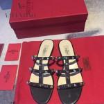 VALENTINO鞋子-001-3 網紅推薦款鉚釘設計原版胎牛皮平底拖鞋