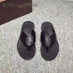 BV鞋子-001-3 夏季原版全手工編織牛皮革面男士爆款涼鞋